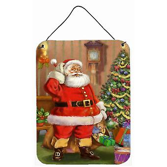 Christmas Santa by the Tree Wall or Door Hanging Prints