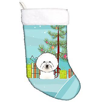 Albero di Natale di Carolines tesori BB1589CS e calza di Natale di Bichon Frise
