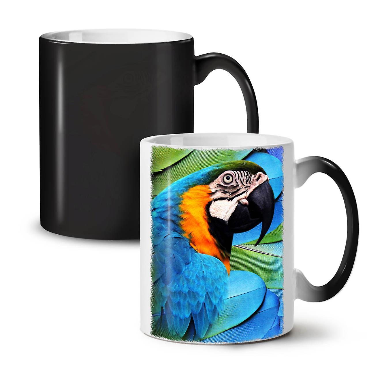 Oiseaux Nouveau De Café Mignon OzWellcoda Noir Perroquet Changeant Tasse 11 Thé Céramique Couleur vmwPy8nN0O