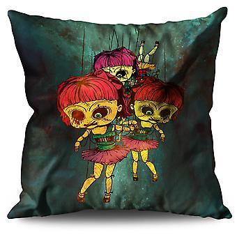 Doll Scary Creepy Horror Linen Cushion Doll Scary Creepy Horror | Wellcoda