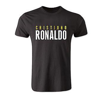 Cristiano Ronaldo foran navnet T-shirt (svart)