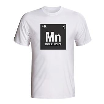 Manuel Neuer Germany Periodic Table T-shirt (white)