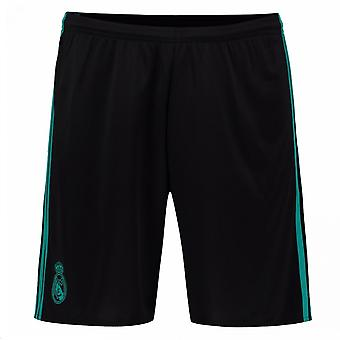 2017-2018 Real Madrid Adidas Away Shorts (Black)