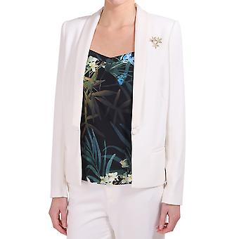 Maison Scotch Tuzedo Blazer With A Decorative Brooch