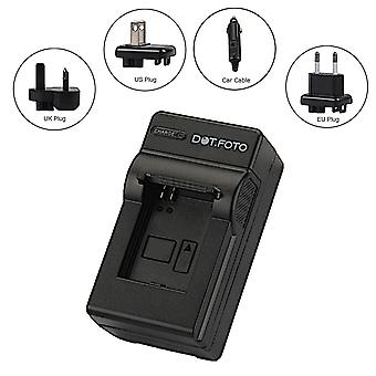 Dot.Foto JVC BN-VG107, VG108, VG114, VG121, VG138 Travel Battery Charger - 100-240v Mains (UK, Europe, USA Plugs) - 12v in-car adapter [See Description for Compatibility]