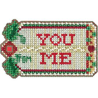 Gift Tag geteld Cross Stitch Kit-3.5