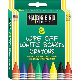 Sargent Art Wipe-Off White Board Crayons-8/Pkg S35-0521