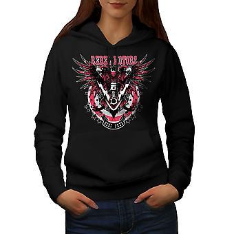 Rebel Motors Club Biker Women BlackHoodie | Wellcoda