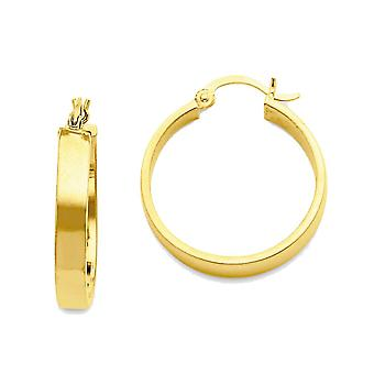 14k Yellow Gold Hollow Round Hoop Earrings - 22mm