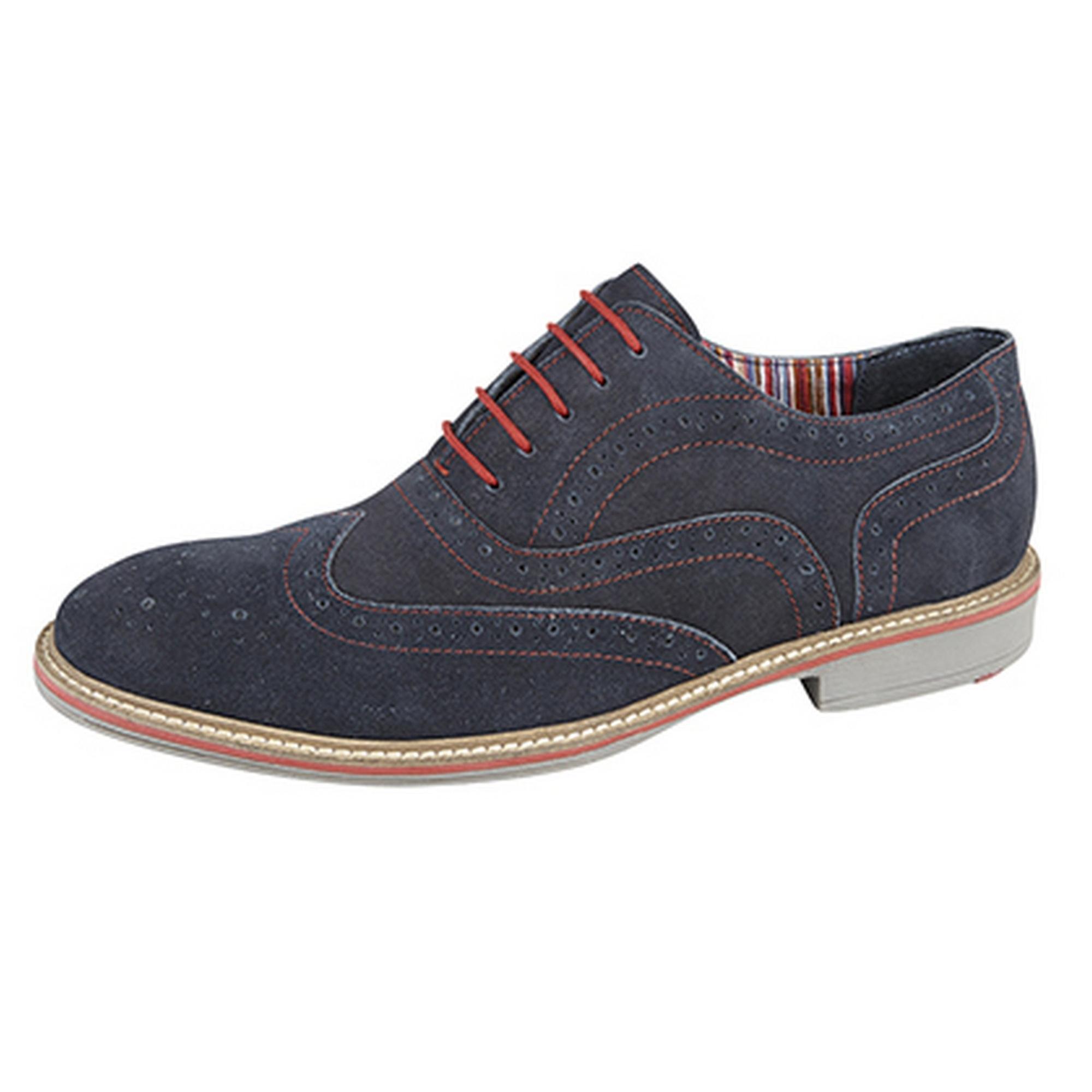 Roamers Mens 5 Eye Oxford Brogue Shoes