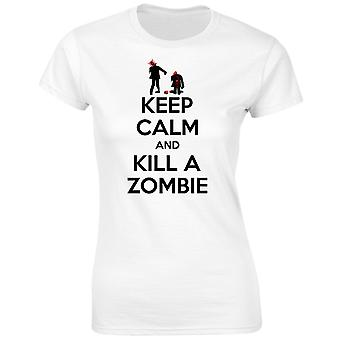 Keep Calm And Kill A Zombie Womens T-Shirt 8 Colours by swagwear