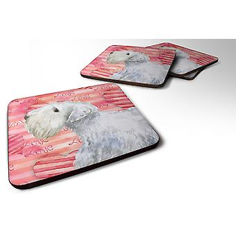Set of 4 Sealyham Terrier Love Foam Coasters Set of 4