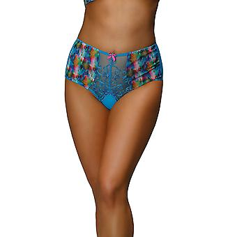 Nessa P2 Women's Valerie Blue Motif Knickers Panty Full Brief