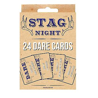 Stag Night Batchelor Party 24 Pack Dare Cards Game