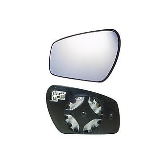 Left Mirror Glass (heated circular attachment) & Holder for Ford C-MAX 2007-2010