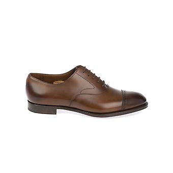 Edward green men's BERKELEYDARKOAKANTIQUE brown leather lace-up shoes