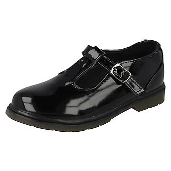 Girls Spot On Patent School Shoes H3055