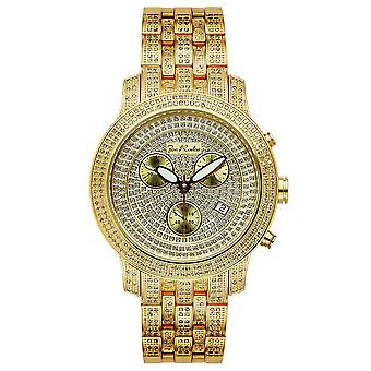 Joe Rodeo diamond men's watch - CLASSIC gold 3.75 ctw