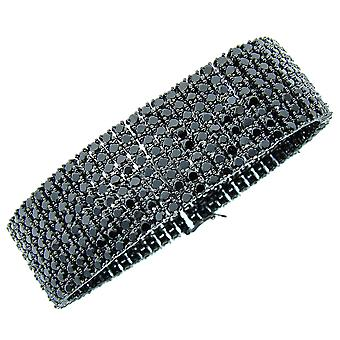 Iced out bling premium Bracelet - 8 black ZIRCONIA ROWS