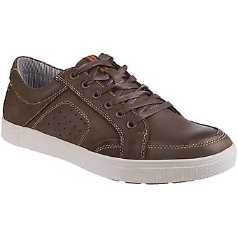 Cotswold Mens Cheltenham Breathable Lace Up Leather Trainers