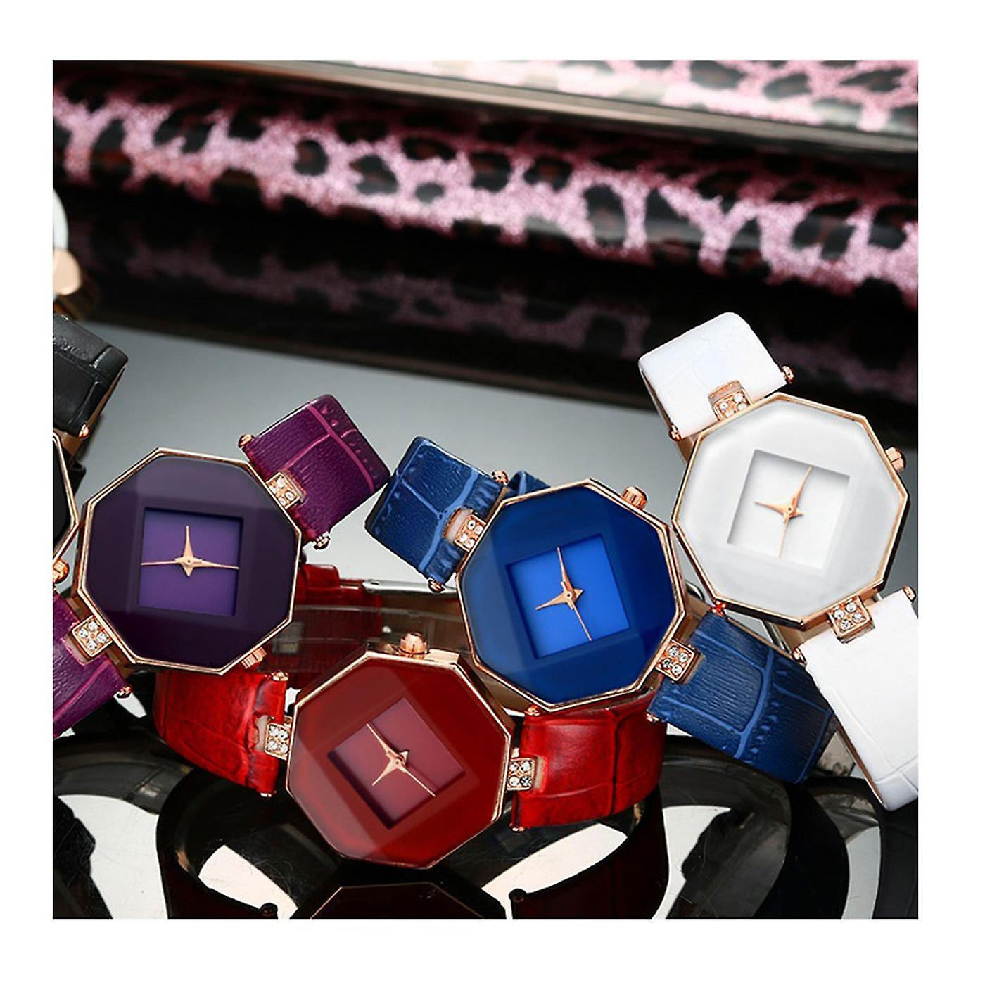 Smart Diamond Shape Watch Black Jewel