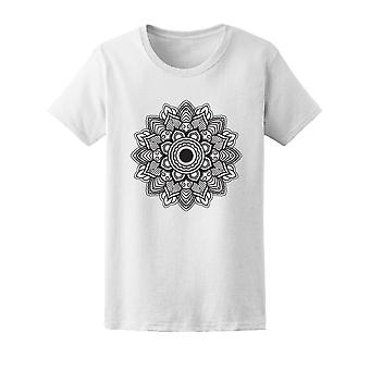Decorative Flower Round Ornament Tee Women's -Image by Shutterstock