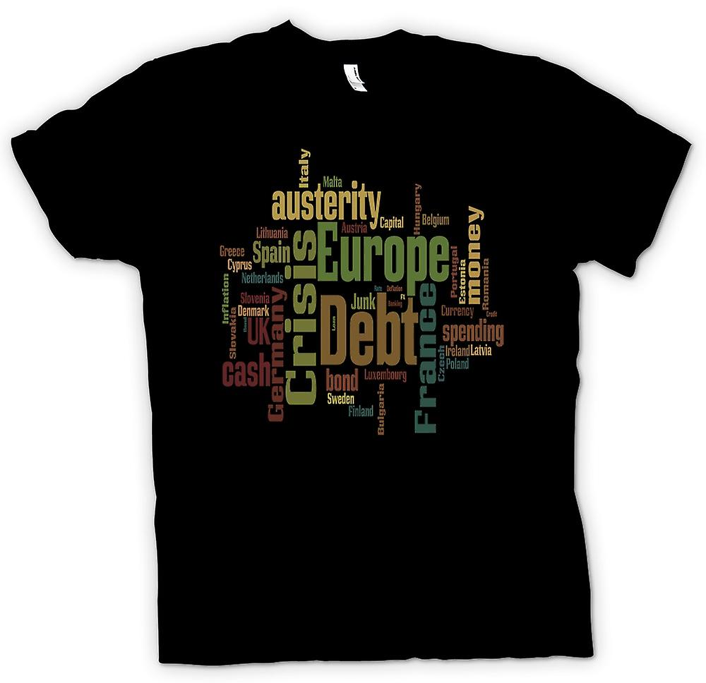 Mens T-shirt - Europe Debt Crisis - Funny