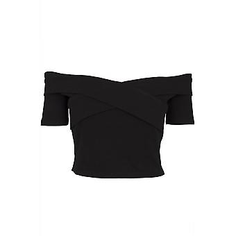 Urban Classics Off Shoulder Cross Rib Tee