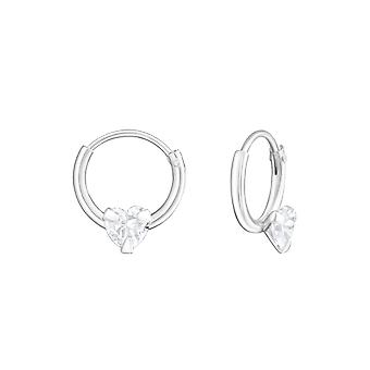Hoop - 925 Sterling Silver Ear Hoops - W19218x