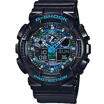 Casio G-Shock zwarte en blauwe Mens Watch GA100CB-1ACR