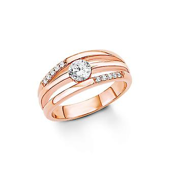 s.Oliver jewel ladies silver cubic zirconia ring Rosé gold SO1321