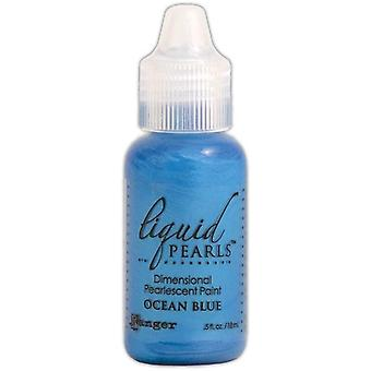 Liquid Pearls Dimensional Pearlescent Paint .5oz-Ocean Blue