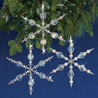 Holiday Beaded Ornament Kit-Vintage Angels & Snowflakes Makes 3