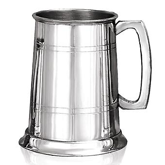 Plain Straight 2 Line Pewter Tankard - 1 Pint
