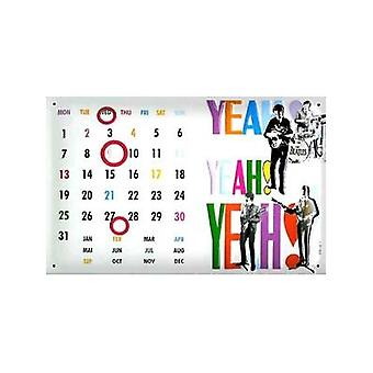 Beatles Yeah Yeah Yeah Everlasting Steel Calendar 200Mm X 300Mm