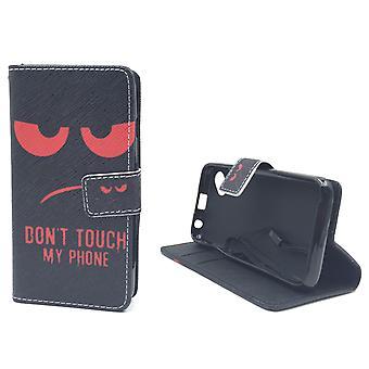 Handyhülle Tasche für Handy Wiko Sunny Dont Touch My Phone Rot