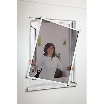 Window Kit Flyscreen 100 x 120 cm with pollen-protection fabric in white