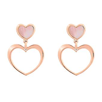 Orphelia Silver 925 Earring with Pink MOP Heart - ZO-7389