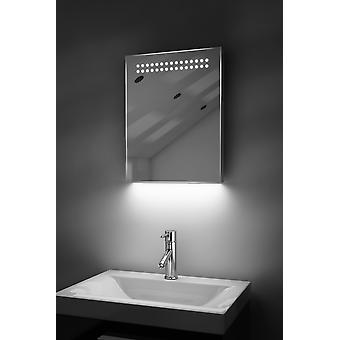 Ambient Ultra-Slim LED Bathroom Mirror With Demister Pad & Sensor K8