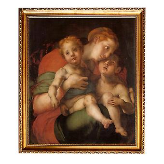 Med ram Madonna and Child with the Young St,Pontormo,61x51cm