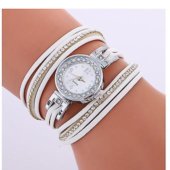 Ladies Silver Watch Women Woman Smart Watches Double White Jewellery Strap