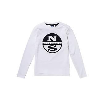 Northshore children long-sleeved cotton T shirt with ribbed collar