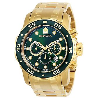 Invicta Pro Diver Gold-Tone Stainless Steel  Chronograph Mens Watch 0075