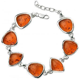Begin Amber Multi vorm armband - Amber/zilver