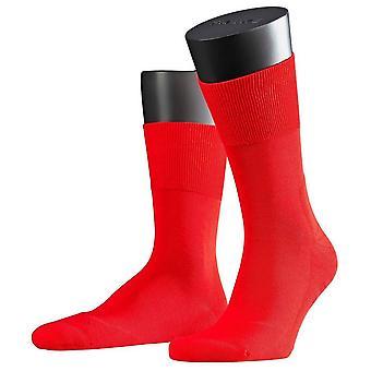 Фалке Run Midcalf носки - красный огонь