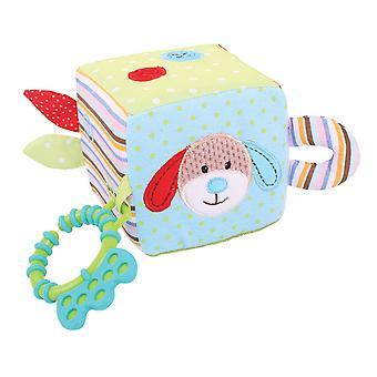Bigjigs leksaker mjuk plysch Bruno aktivitet kub sensoriska nyfödd Baby gåva barnsäng