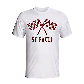 St Pauli agitando banderas camiseta (blanco)