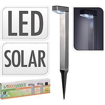 Solarlamp Led alu set van 2  lampen