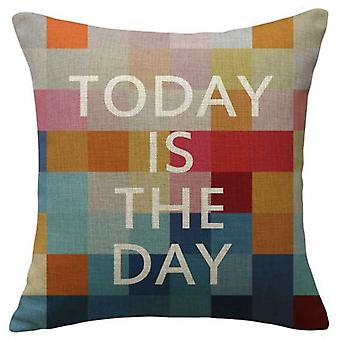 Wellindal Cushion Cover Cotton Today Is The Day