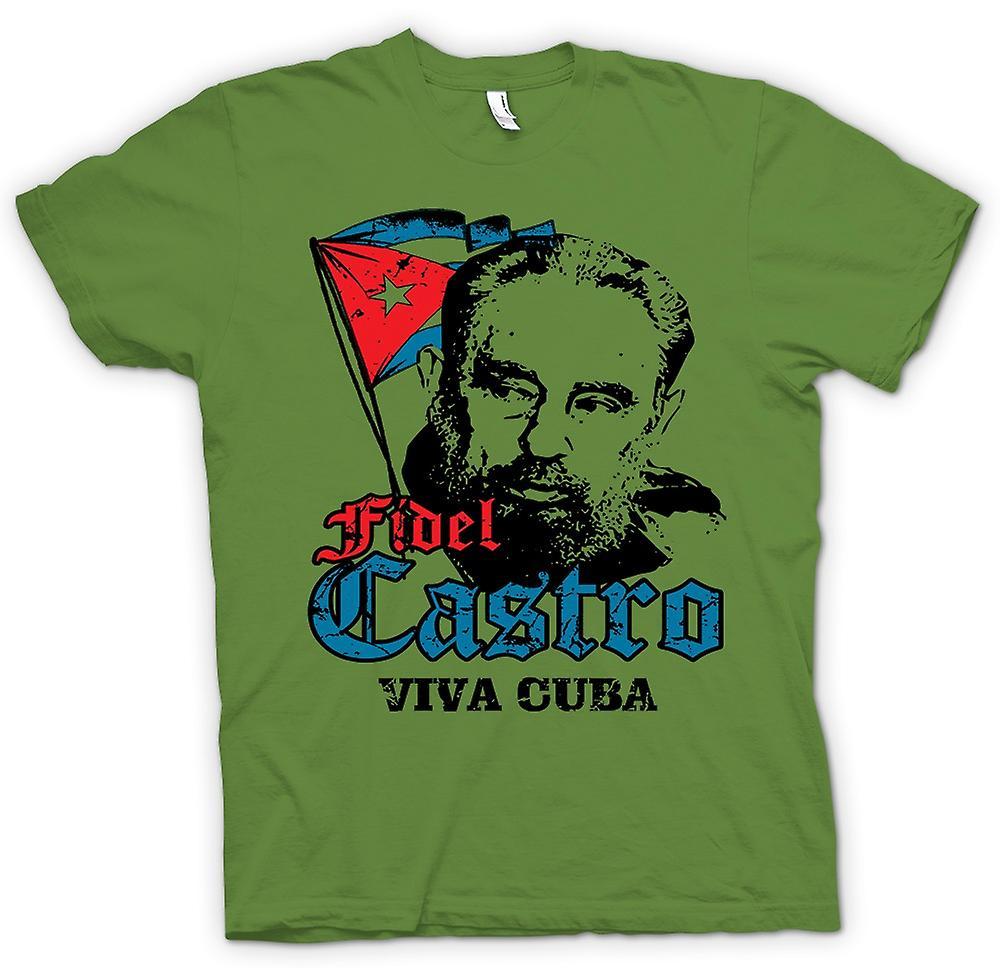 Herr T-shirt - Fidel Castro Viva Kuba - kommunismen